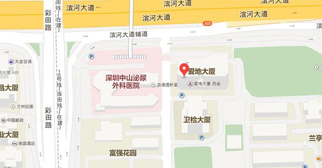 东莞国岸医院精神科地图